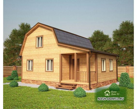 Проект Дома из бруса №2 «ТПД 2-7х9»