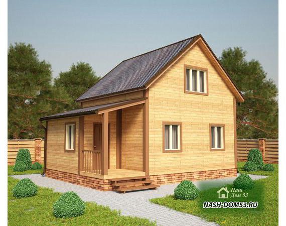 Проект Дома из бруса №3 «ТПД 3-6х8»