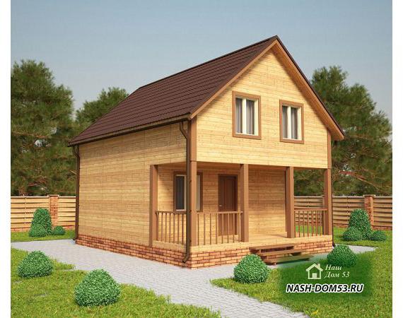 Проект Дома из бруса №4 «ТПД 4-6х8»