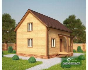 Проект Дома из бруса №5 «ТПД 5-6х8»