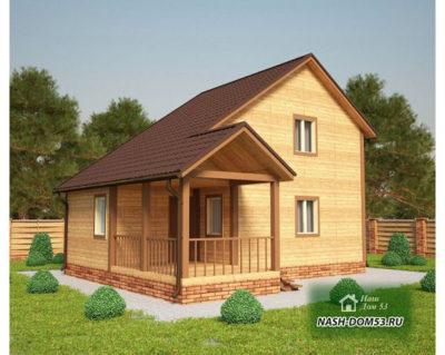 Проект Дома из бруса №7 «ТПД 7-9х8»