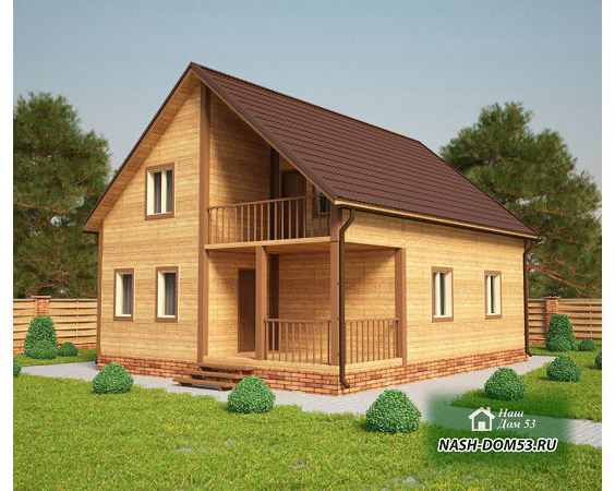 Проект Дома из бруса №8 «ТПД 8-10х8»