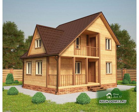 Проект Дома из бруса №9 «ТПД 9-8х6»