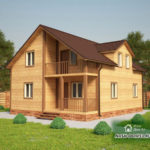 Проект Дома из бруса №10 «ТПД 10-8х10»