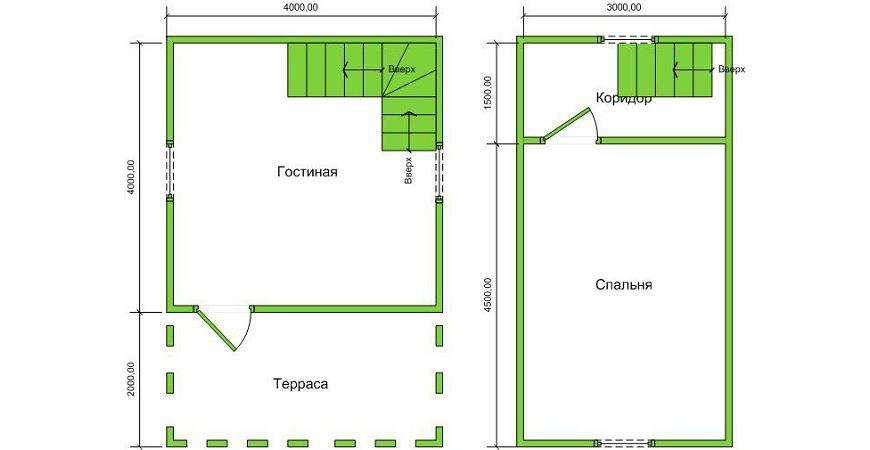 Проект Дома из бруса №49 «ТПД 49»