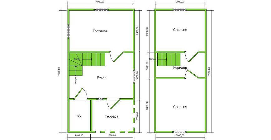 Проект Дома из бруса №51 «ТПД 51»