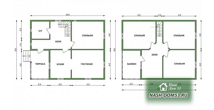 Проект Дома под усадку №8 «ТПД 8-10х8»