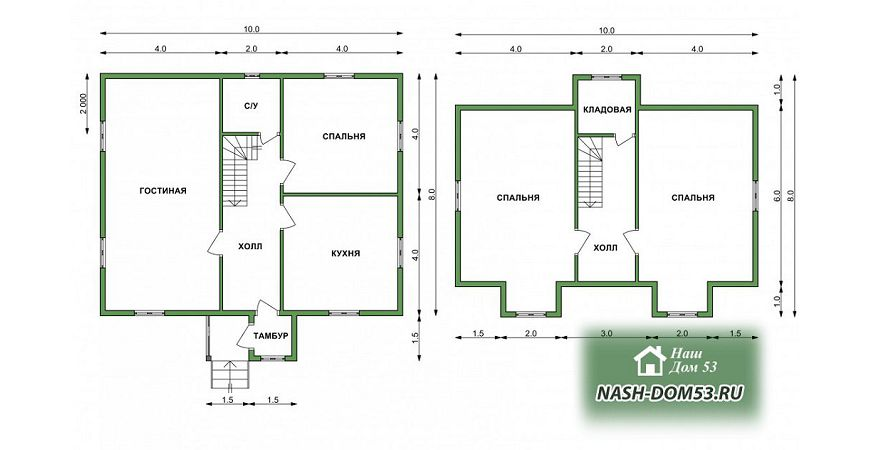 Проект Дома под усадку №15 «ТПД 15-10х8»