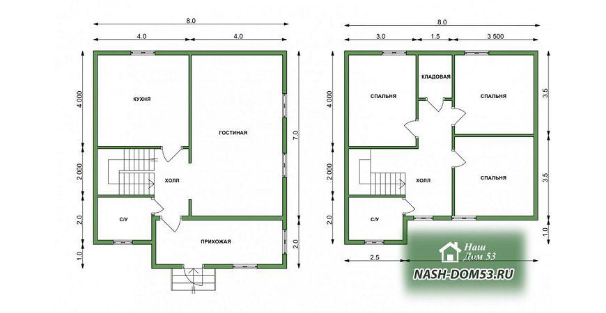 Проект Дома под усадку №17 «ТПД 17-8х9»
