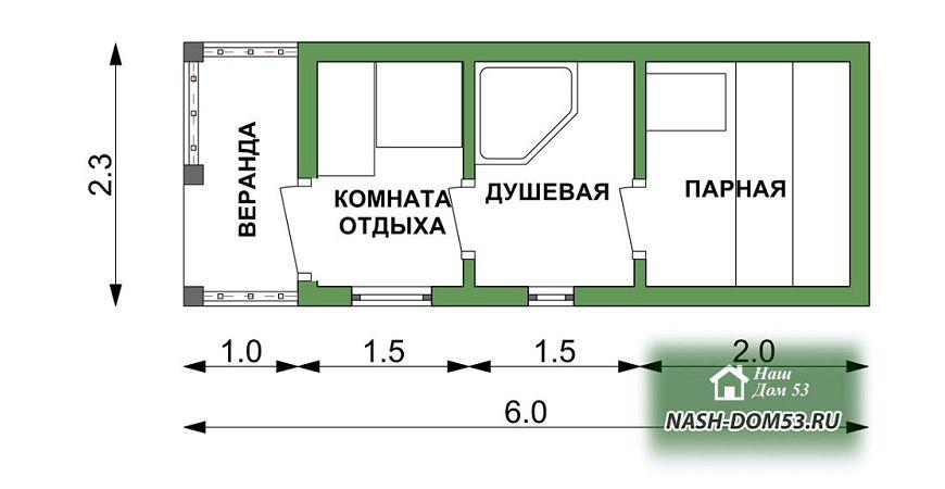 Проект Перевозной бани №88 «ПБ 4»