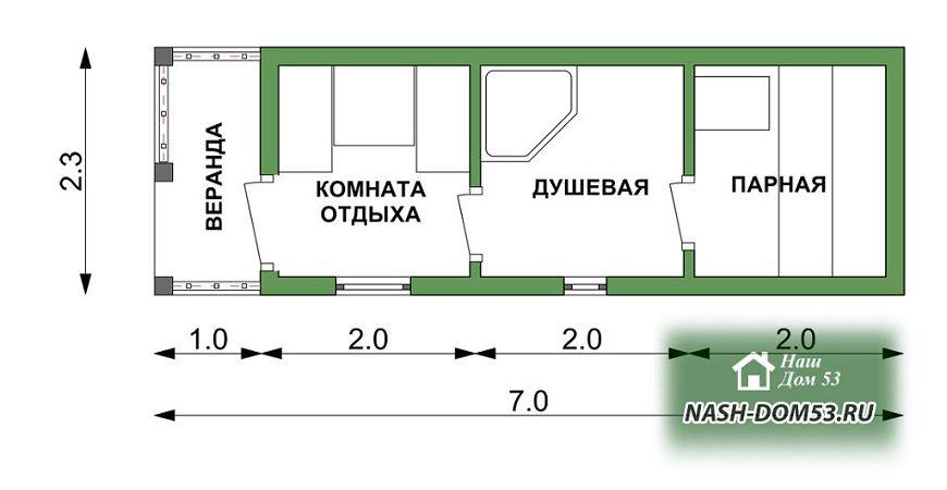 Проект Перевозной бани №90 «ПБ 6»