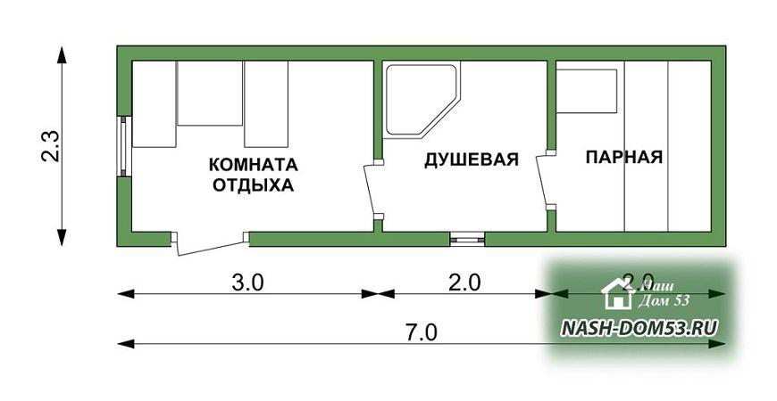 Проект Перевозной бани №91 «ПБ 7»