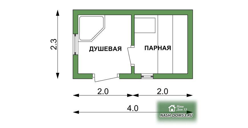 Проект Перевозной бани №85 «ПБ 1»