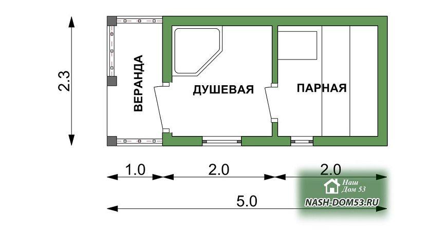 Проект Перевозной бани №86 «ПБ 2»